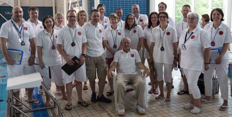 Volunteers at Wey Valley Swimming Club Summer Sprints 2017