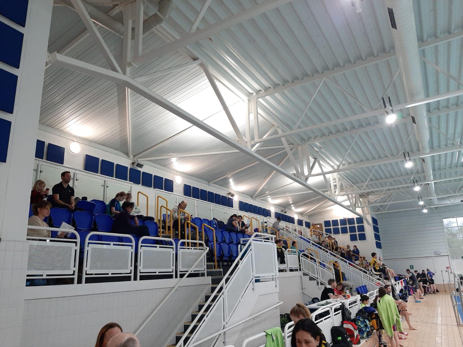 Quiet and few spectators